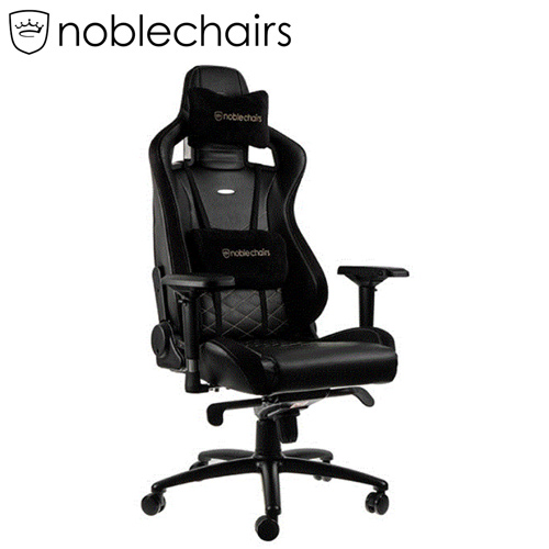 noblechairs 皇家 EPIC系列電競賽車椅 PU經典款 黑金