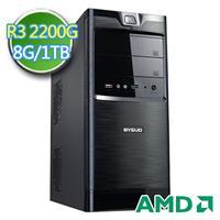 技嘉A320平台【黑旗部隊】AMD APU 四核 1TB燒錄電腦