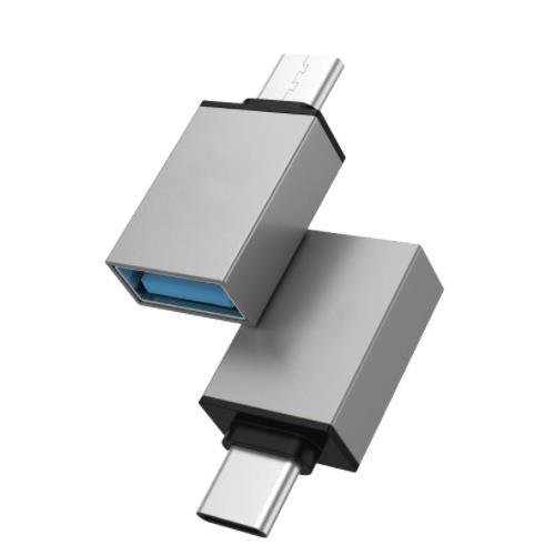 i-wiz 炫彩 Type-C公 to USB3.0 OTG 轉接頭 灰