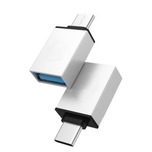 i-wiz 炫彩 Type-C公 to USB3.0 OTG 轉接頭 銀