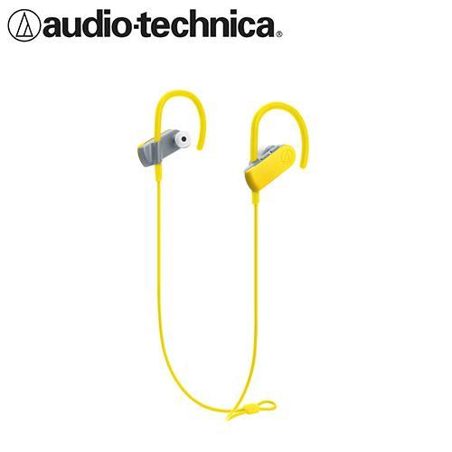 【公司貨-非平輸】鐵三角 ATH-SPORT50BT 耳掛式藍牙無線耳機麥克風組 蝴蝶黃