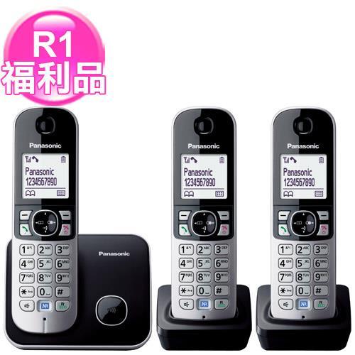 R1【福利品】國際牌繁體中文數位3手機無線電話KX-TG6813黑
