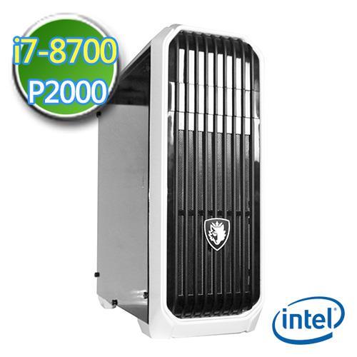 技嘉Z370平台【灵幻制图】Intel第八代i7六核 P2000-5G绘图独显 2TB烧录电脑