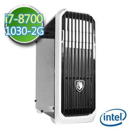 技嘉Z370平台【灵幻杀手】Intel第八代i7六核 GT1030-2G独显 1TB效能电脑