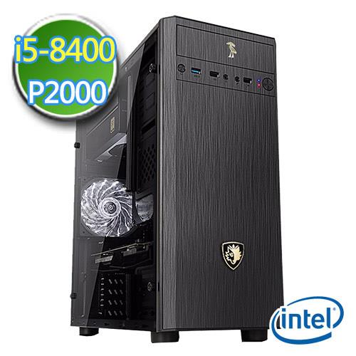 技嘉Z370平台【白银划首】Intel第八代i5六核 P2000-5G绘图独显 1TB烧录电脑