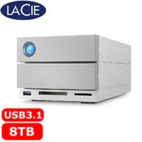 LaCie 2big Dock 3.5吋 8TB USB3.1/Thunderbolt3 行動硬碟