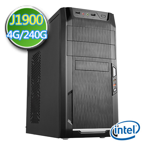 技嘉Celeron平台【磁力風暴】Intel四核心 SSD 240G效能電腦