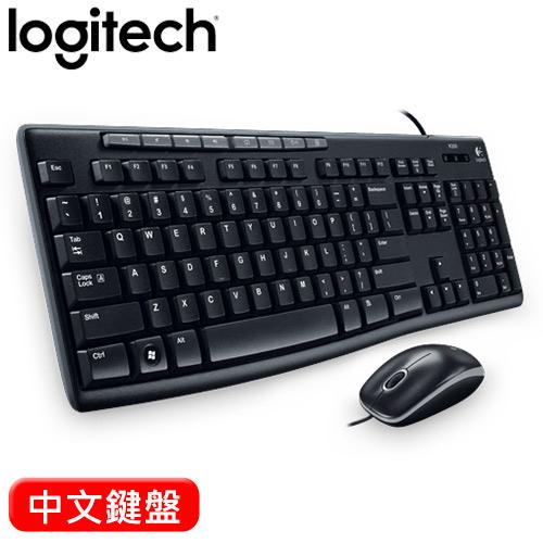 【福利品】Logitech 羅技 MK200 USB有線鍵盤滑鼠組【包裝破損,商品全新,憑發票保固】