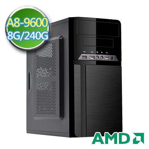 技嘉A320平台【黑翼骑士II】AMD APU 四核 SSD 240G效能电脑