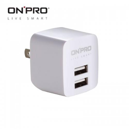 ONPRO UC-2P01 雙USB充電器(5V/2.4A) 白