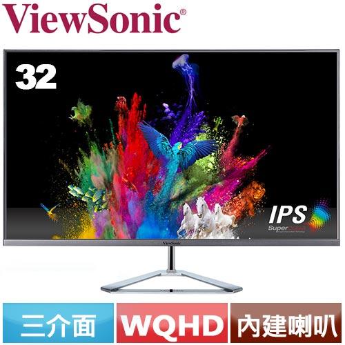 R2【福利品】ViewSonic優派 32型 時尚無邊框 IPS液晶螢幕 VX3276-2K-MHD