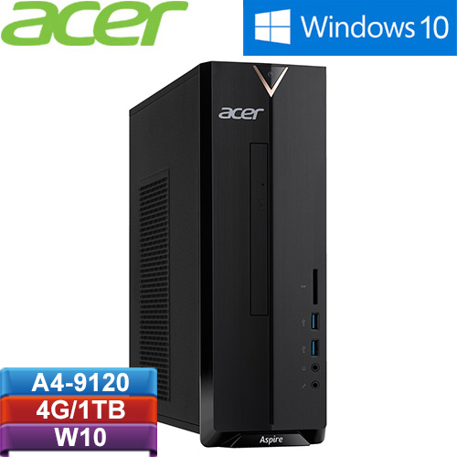 ACER宏碁 Aspire XC-330 AMD雙核Win10電腦(A4-9120/4G/1TB/W10)【加碼送保溫杯】