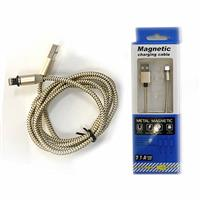 彰唯 2.1A 快充 APPLE USB 強力磁吸充電專用線 1.2米 金色