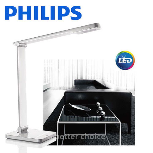 【飛利浦 PHILIPS LIGHTING】CALIPER 晶皓 (71666) LED 檯燈 - 白