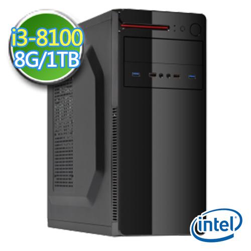 技嘉B360平台【睿智策士】i3四核 1TB效能电脑