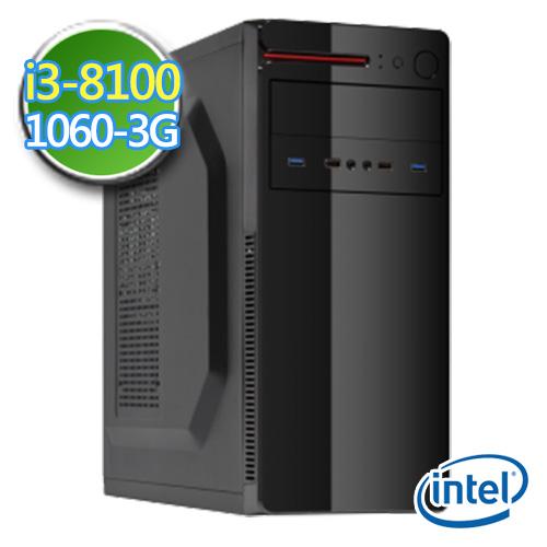 技嘉B360平台【睿智御守】i3四核 GTX1060-3G独显 1TB效能电脑