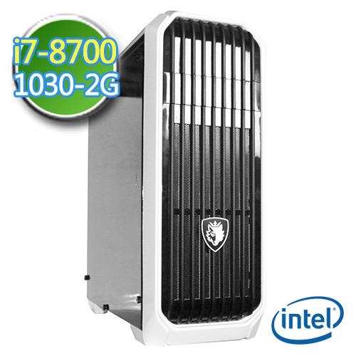 技嘉B360平台【绝冻冰焰】i7六核 GT1030-2G独显 1TB效能电脑