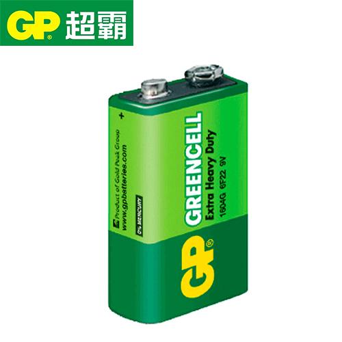 GP超霸 9V綠能特級碳鋅電池1入