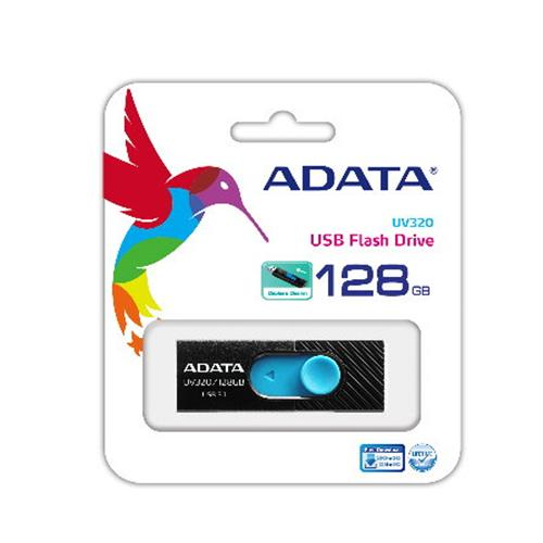 ADATA 威剛 UV320 128GB USB3.1 上推式隨身碟 ( 黑色 )