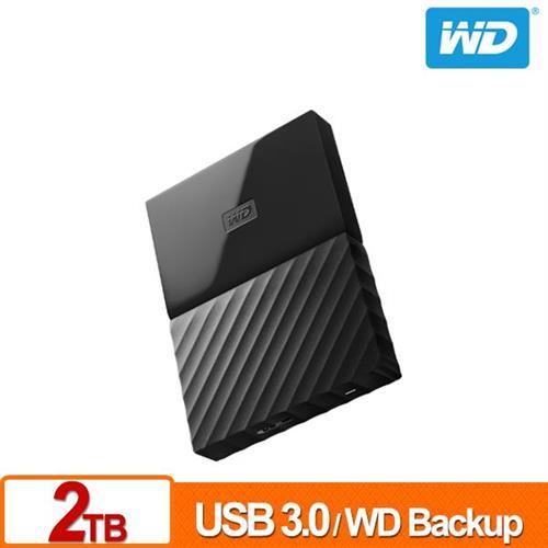 WD My Passport 2TB(黑) 2.5吋行動硬碟(薄型)