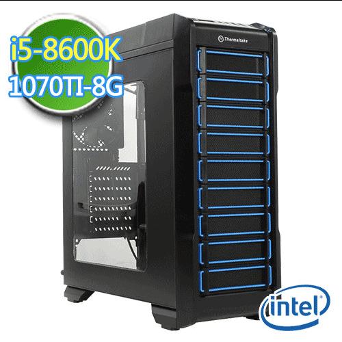 技嘉Z370平台【神造战锤III】i5六核 GTX1070TI-8G独显 SSD 240G烧录电脑