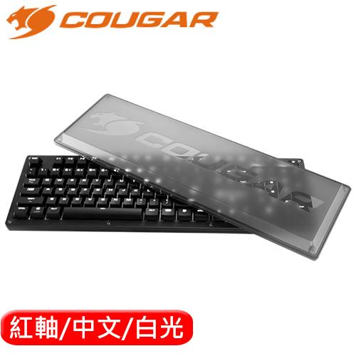 COUGAR 美洲獅 PURI 機械鍵盤 白光 Cherry紅軸