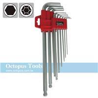 Octopus 英制特長白金球型扳手9支組(486.4280)