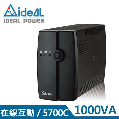 IDEAL愛迪歐 1KVA 在線互動式UPS不斷電系統 IDEAL-5710C(1000VA)