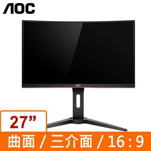AOC 27型 VA曲面電競螢幕 C27G1