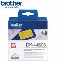 BROTHER 連續標籤帶 62mm 黃底黑字 DK-44605 (可重覆黏貼)