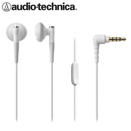 【公司貨-非平輸】鐵三角 ATH-C200iS 智慧型手機用耳塞式耳機 白色