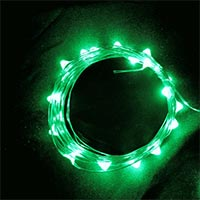 USB 5V 防水型100燈銀絲燈 10M 綠光