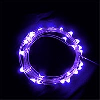 USB 5V 防水型100燈銀絲燈 10M 紫光