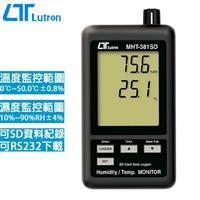 Lutron路昌 雙顯示溫濕度記錄器 MHT-381SD