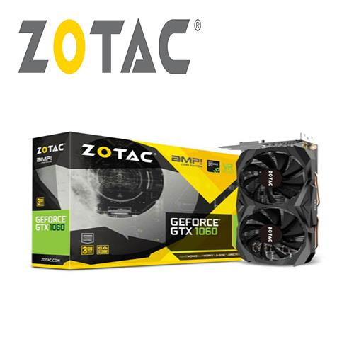 ZOTAC索泰 GeForce GTX 1060 3GB AMP Core Edition 顯示卡