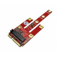 Awesome M.2 B (USB2.0、PCIe x1、SATA) 轉mPCIe轉接卡 AWD-DT-134B