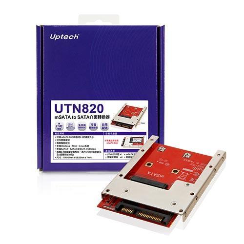 Uptech UTN820 mSATA to SATA介面轉換器