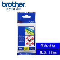 Brother TZe-MP RG31 創意護貝標籤帶 12mm 俏紅格紋