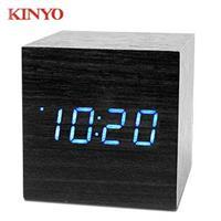 KINYO 迷你LED聲控木頭鬧鐘 TD-520