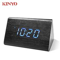 KINYO 迷你LED聲控木頭鬧鐘 TD-521