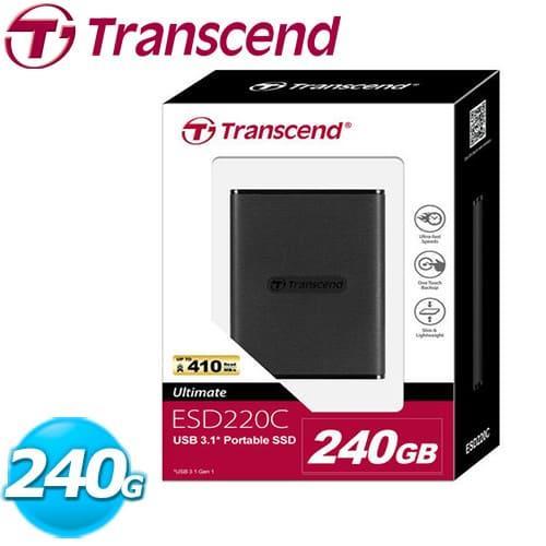 Transcend 創見 ESD 220C 行動固態硬碟 240G ( 外接 SSD )