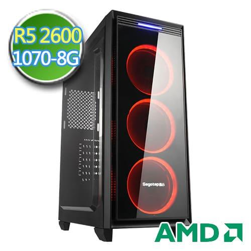 技嘉B450平台【扶桑骑兵】Ryzen六核 GTX1070-8G独显 SSD 240G效能电脑