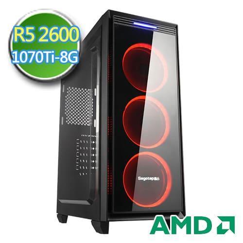 技嘉B450平台【扶桑猎人】Ry六核 GTXzen1070TI-8G独显 SSD 240G效能电脑