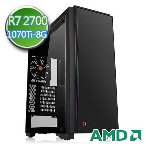 技嘉B450平台【无边战火】Ryzen八核GTX1070TI-8G独显SSD240G效能电脑
