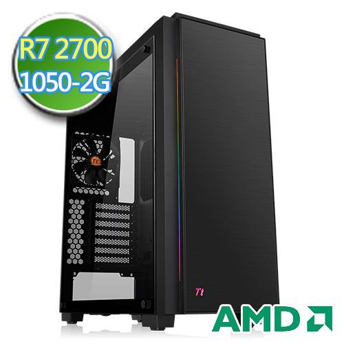 技嘉B450平台【无边天炎】Ryzen八核GTX1050-2G独显2TB效能电脑