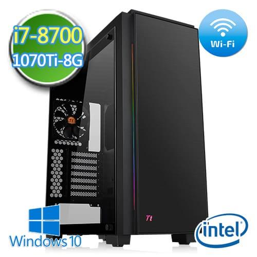 技嘉B360平台【战祸机甲】i7六核 GTX1070TI-8G独显 1TB效能电脑
