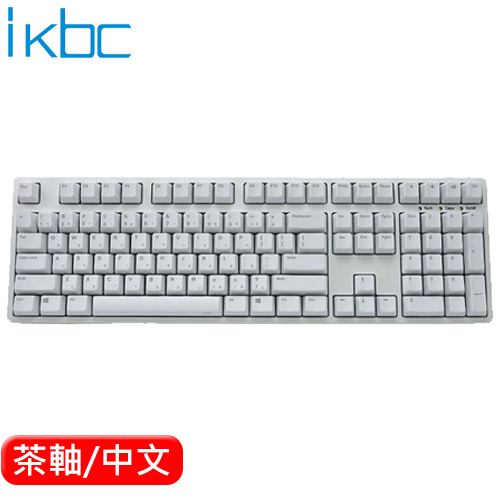 ikbc CD108 機械鍵盤 白 Cherry MX 茶軸