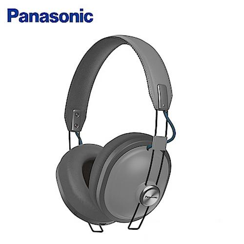 Panasonic 復古造型頭戴式藍牙耳機麥克風 RP-HTX80 水漾灰