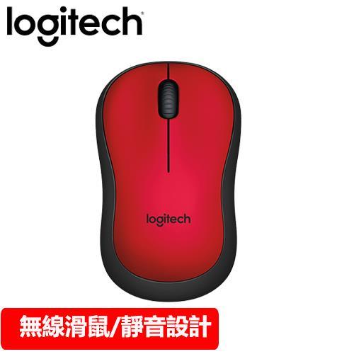 Logitech 羅技 M221 無線靜音滑鼠 紅
