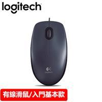 Logitech 羅技 M90 有線滑鼠 USB 黑